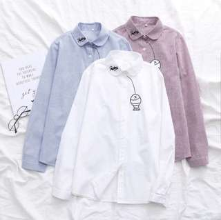 "[PO] Embroidered ""Fish"" Stripes Shirt (24)"