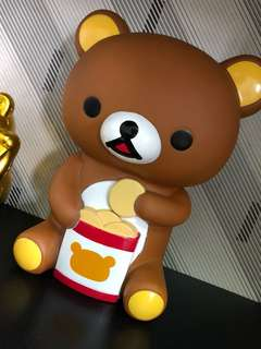Rilakkuma money barrel