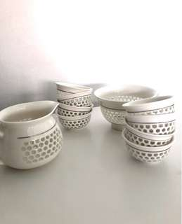 Price Reduced $! - Assorted Beautiful Candle Cup Tea Pot Holder (Set)