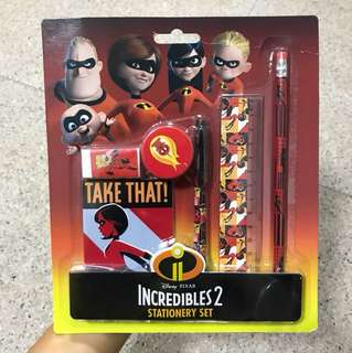 Disney Pixar The Incredibles 2 Stationery Set