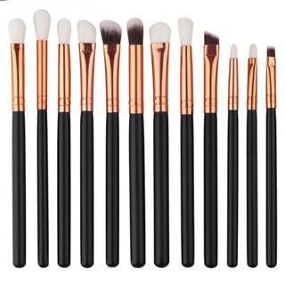 Black Eye Makeup Brush Set 12pcs