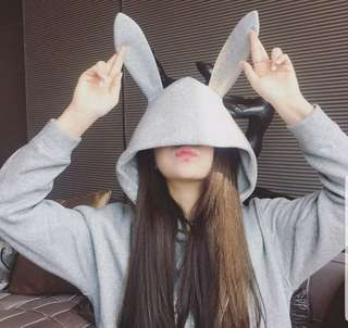 #July100 [PRE ORDER] HOT SELLING 🔥🔥🔥 Rabbit Bunny Ear Hoodie Sweater for Cosplay Halloween Casual Cute Fun