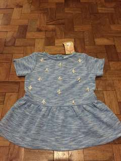 Gingersnaps Denim Top with Studs