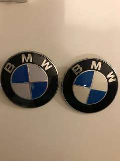 BMW 原廠引擎蓋圓形標誌車前蓋LOGO一對