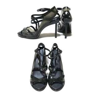 Jean Paul Gaultier x Melissa Edgy Black Strappy Heels