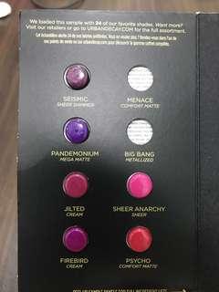 Urban Decay Vice Lipstick Tester Pods