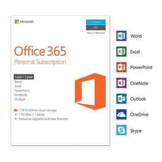 *CHEAP* Microsoft Office 365 Personal 1-Year Subscription (Box)