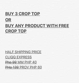 Buy 3 CROP TOP