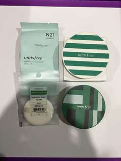 Innisfree Water Fit Cushion N21, 2 casing, 1 Air Magic Puff