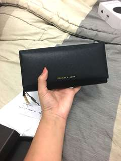 Charles & Keith Black Clutch Original