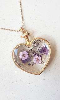 Dried Lavender Gold Necklace