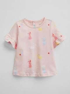 🚚 現貨 GAP 彩色兔兔款短袖上衣T恤