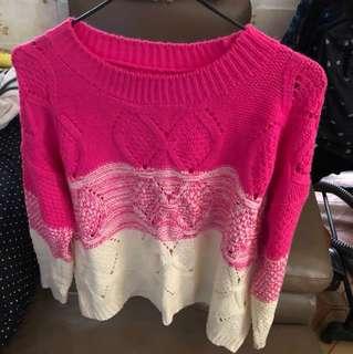 🈹混色針織毛衣