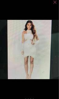 Lace White Cream Cocktail Dress small
