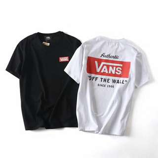 Vans tee in blk or white
