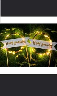 LED Happy Birthday Cake Topper