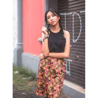 REPRICE! Rok Motif Floral Batik