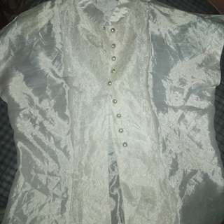 Selling white formal lace blouse