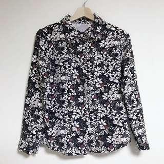 🚚 全新復古滿版玫瑰印花襯衫|Janet Style