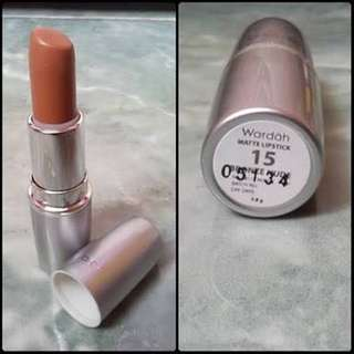 Wardah matte lipstick 15 bronze nude