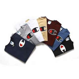Champion tee in 7 colors