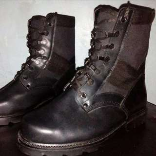 BRAND NEW! Military Leather Combat Jungle Boots Steel Toe (Airsoft) (Hiking)
