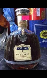 Martell cognac xo supreme 綠瓶 700ml 銀帶 洋酒