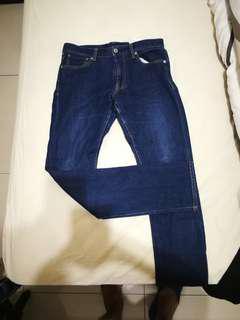 🚚 原始藍牛仔褲 上寬下窄褲版