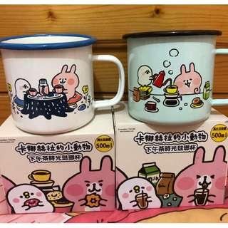 7-11 卡娜赫拉琺瑯杯 白色野餐款 粉紫遛狗款 粉綠沖泡款
