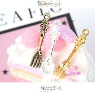 Mini Fork and Spoon Charms