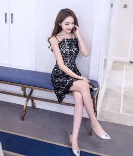 🚚 Halter crochet lace dress