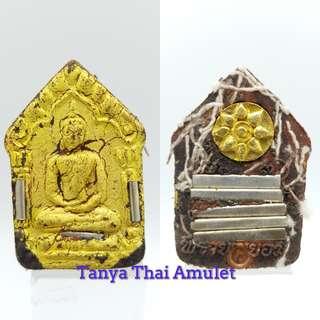 Thai amulets Phra Khun Pean Prai Payom Lp. Denchai Wat Takfa 8 silver takrut