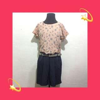 001 - Printed Blouson Dress