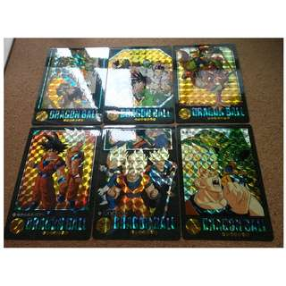 Dragonball visual adventure part 5 prism cards set