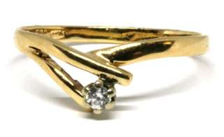 Stunning 18ct Gold & genuine Diamond ring - Size P1/2