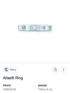 Tiffany & Co Atlas rings