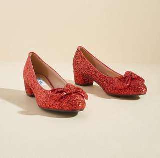 Lulu Hun Cinematic Sparkle Glitter Block Heel in UK 5 (US 7)