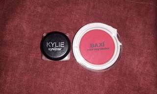 Kylie eyeliner and baxi blush on