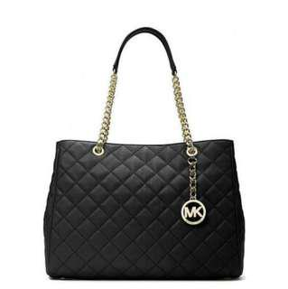 Micheal Kors quilted Savannah tote purse