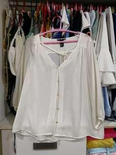 H&M white longsleeves