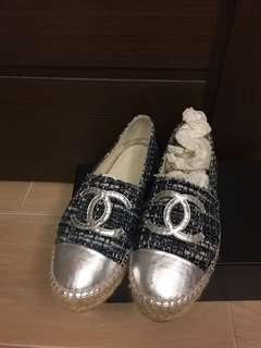 Chanel 草鞋 espadrilles CC
