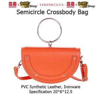 Japan Quality - Tas Pesta Semicircle sling bag Miniso Tas Selempang
