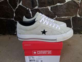READY STOCK  PREMIUM BNIB  MADE IN CHINA  CONVERSE LOW ONE STAR S GREY/WHITE SIZE 40/41/42/43/44