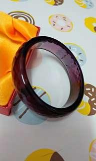 🚚 紫色手鐲 菱形刻面 內徑56 出清中 附收藏盒