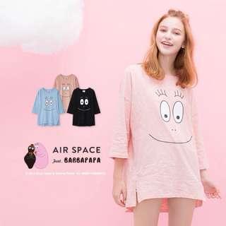 Air space 泡泡先生竹節棉7分袖上衣