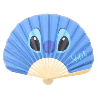 Disney迪士尼 史迪奇stitch大臉圖案折扇 扇子