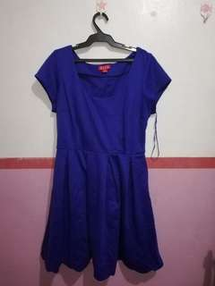 ELLE Scalop Royal blue dress