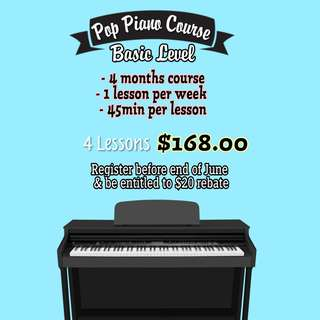 Pop piano play-by-ear course