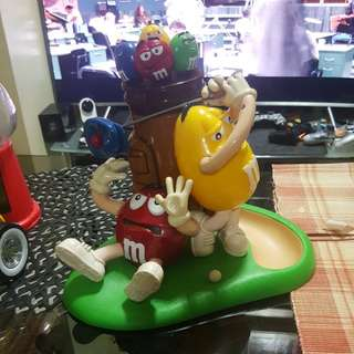 M&M chocolate collectible golf dispensers