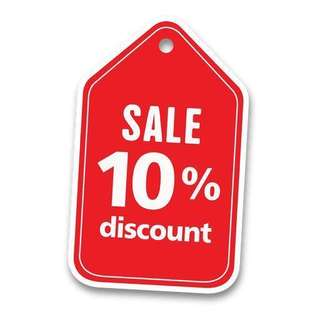 10% discount for all readystock Primark, Clarks and Cath Kidston items . From 10th - 12th June 2018